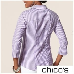 NWT 'Effortless Bryant Striped' Chico's Blouse